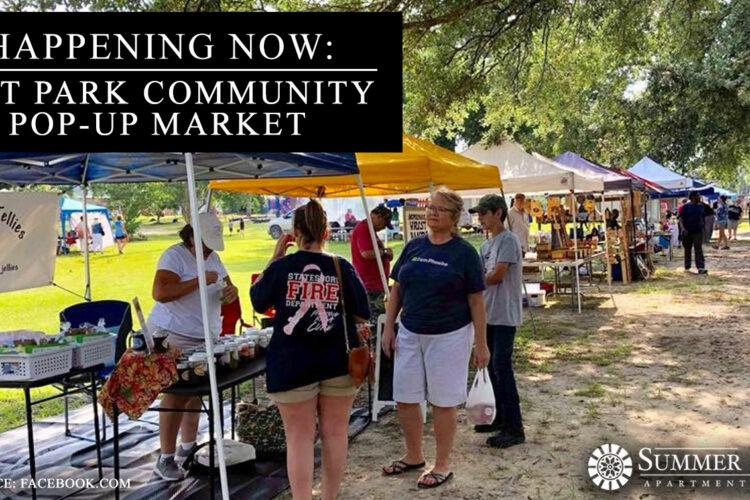Happening Now: Tift Park Community Pop-Up Market